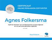 Agnes-Folkersma-certificaat-online-persuasion-copywriter