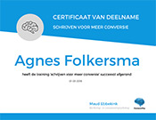 Agnes-folkersma-certificaat-copywriting-training